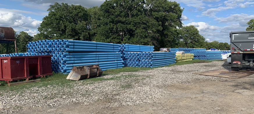 materials for waterline project