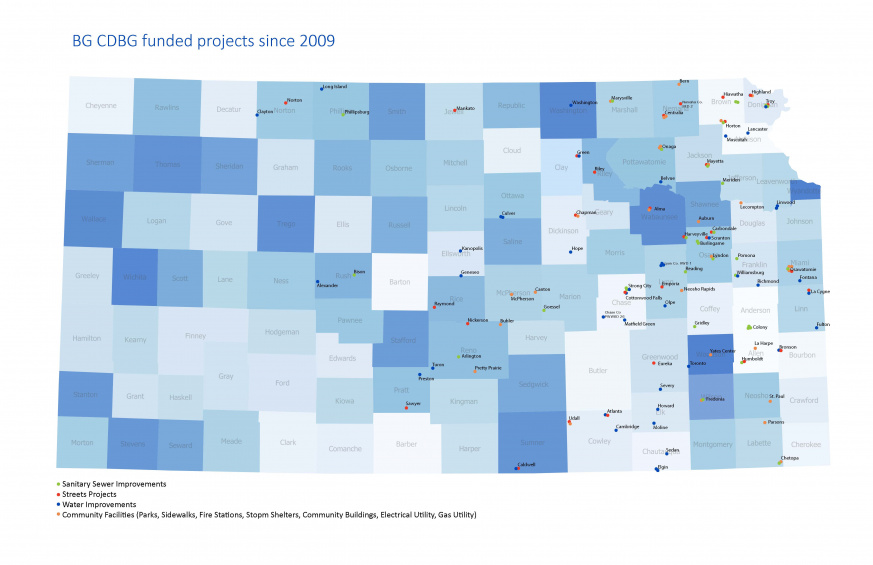KS Map - BG Project Sites with CDBG funding