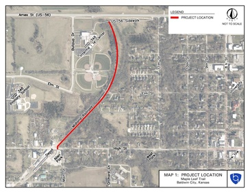 Maple Leaf Rail Trail Project Location Map